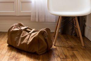 Luggage on the floor.