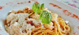 Pasta spaghetti in one of the best Denver restaurants.