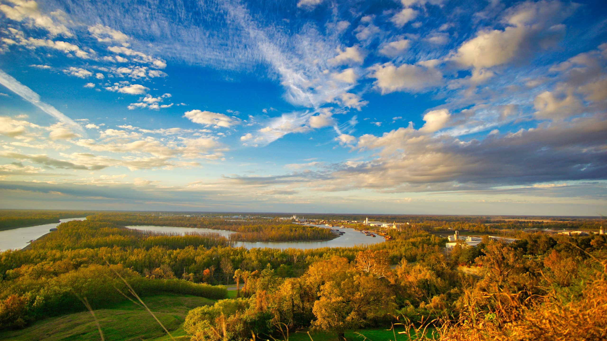 View of the Mississippi river