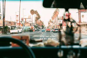 Car on the street, LA.