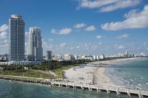 A view of Miami beach.