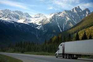Truck driving.
