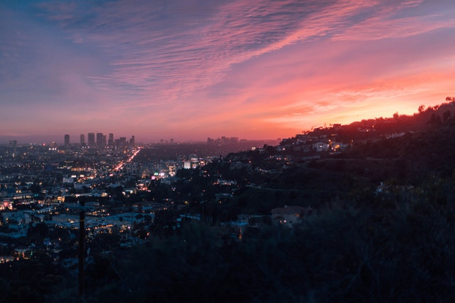 an areal view of Los Angeles, read how to Organize a move from Colorado to California